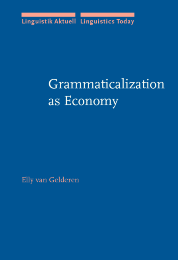 image of Grammaticalization as Economy