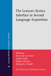image of The Lexicon–Syntax Interface in Second Language Acquisition
