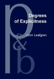image of Degrees of Explicitness