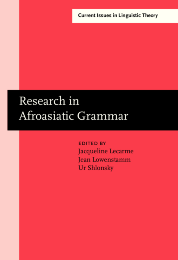 image of Research in Afroasiatic Grammar