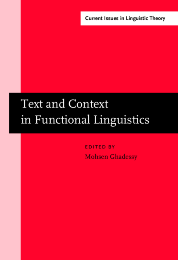 image of Text and Context in Functional Linguistics