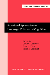 image of Functional Approaches to Language, Culture and Cognition